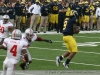 M Football 2011 Michigan Wolverines Too Much For ohios Buckeyes in Big House: M 40 OSU 34 thumbs 2011 umohio 030 Ohio State Ohio Denard Robinson Brady Hoke 2011