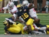 M Football 2011 Michigan Wolverines Too Much For ohios Buckeyes in Big House: M 40 OSU 34 thumbs 2011 umohio 08 Ohio State Ohio Denard Robinson Brady Hoke 2011