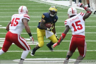 M Football 2011 Michigan Football Returned In November to the Big House Saturday As the 18th Ranked Wolverines Demolished  Nebraskas 16th Ranked Cornhuskers 45 17  2386  320x240 2011 umneb 028 Nebraska Denard Robinson Brady Hoke 2011