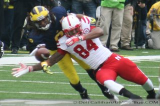 M Football 2011 Michigan Football Returned In November to the Big House Saturday As the 18th Ranked Wolverines Demolished  Nebraskas 16th Ranked Cornhuskers 45 17  2392  320x240 2011 umneb 04 Nebraska Denard Robinson Brady Hoke 2011