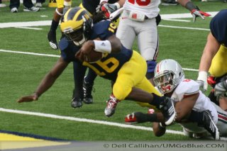 M Football 2011 Michigan Wolverines Too Much For ohios Buckeyes in Big House: M 40 OSU 34 2412  320x240 2011 umohio 022 Ohio State Ohio Denard Robinson Brady Hoke 2011