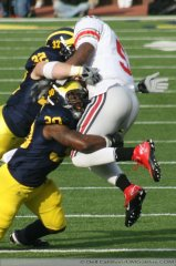 M Football 2011 Michigan Wolverines Too Much For ohios Buckeyes in Big House: M 40 OSU 34 2423  320x240 2011 umohio 032 Ohio State Ohio Denard Robinson Brady Hoke 2011