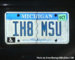 Great license plate  I hate Michigan State 1h8msu 300x240 MSU License Plate