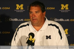 M FOOTBALL 2012: MEDIA/KIDS DAY  WOLVERINES HAVE STEPPED OUT OF THE SHADOWS INTO THE LIMELIGHT 2012 MediaDay 02 300x200