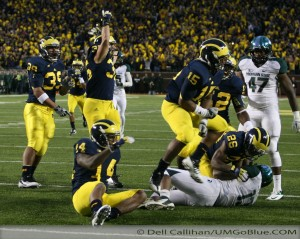 M FOOTBALL 2012 WAS LAST SATURDAYS SLUGFEST AT MICHIGAN STADIUM MSUS BOWL GAME? WOLVERINES 12, MSU 10 2012 UMmsu 035 300x239