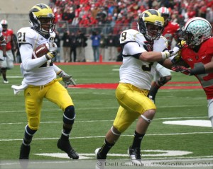 THE GAME THE WOLVERINES TRAVELED TO COLUMBUS TO WREST AN UNBEATEN REGULAR SEASON FROM THE BUCKEYES, AND POSSIBLY A SPOT IN THE BIG TEN TITLE GAME, BUT DID NOT PREVAIL: MICHIGAN 21, OHIO 26. 2012 UMOSU 011 300x239 The GAME Ohio State Ohio 2012