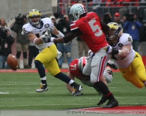 THE GAME THE WOLVERINES TRAVELED TO COLUMBUS TO WREST AN UNBEATEN REGULAR SEASON FROM THE BUCKEYES, AND POSSIBLY A SPOT IN THE BIG TEN TITLE GAME, BUT DID NOT PREVAIL: MICHIGAN 21, OHIO 26. 2012 UMOSU 0141 300x239 The GAME Ohio State Ohio 2012