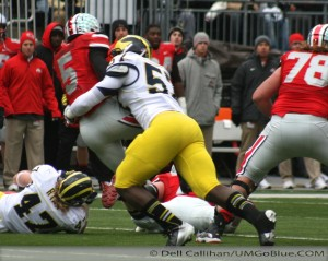THE GAME THE WOLVERINES TRAVELED TO COLUMBUS TO WREST AN UNBEATEN REGULAR SEASON FROM THE BUCKEYES, AND POSSIBLY A SPOT IN THE BIG TEN TITLE GAME, BUT DID NOT PREVAIL: MICHIGAN 21, OHIO 26. 2012 UMOSU 023 300x239 The GAME Ohio State Ohio 2012