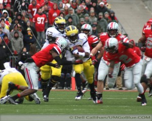 THE GAME THE WOLVERINES TRAVELED TO COLUMBUS TO WREST AN UNBEATEN REGULAR SEASON FROM THE BUCKEYES, AND POSSIBLY A SPOT IN THE BIG TEN TITLE GAME, BUT DID NOT PREVAIL: MICHIGAN 21, OHIO 26. 2012 UMOSU 025 300x239 The GAME Ohio State Ohio 2012