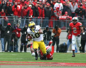 THE GAME THE WOLVERINES TRAVELED TO COLUMBUS TO WREST AN UNBEATEN REGULAR SEASON FROM THE BUCKEYES, AND POSSIBLY A SPOT IN THE BIG TEN TITLE GAME, BUT DID NOT PREVAIL: MICHIGAN 21, OHIO 26. 2012 UMOSU 029 300x239 The GAME Ohio State Ohio 2012