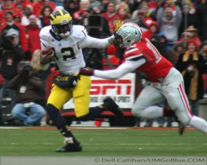 THE GAME THE WOLVERINES TRAVELED TO COLUMBUS TO WREST AN UNBEATEN REGULAR SEASON FROM THE BUCKEYES, AND POSSIBLY A SPOT IN THE BIG TEN TITLE GAME, BUT DID NOT PREVAIL: MICHIGAN 21, OHIO 26. 2012 UMOSU 031 300x239 The GAME Ohio State Ohio 2012