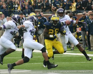 M FOOTBALL 2012 WILDCATS NO LONGER MILDCATS WOLVERINES PREVAIL IN OVERTIME WITH 38 TO NORTHWESTERNS 31. 2012 UMmsu 0251 300x239 Roy Roundtree Devin Gardner Brady Hoke 2012