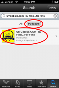 How to Subscribe to the UMGoBlue.COM Podcast on IOS 6 (iPhone, iPad) iTunes 042 200x300 iTunes