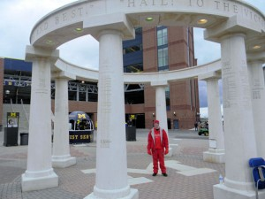 An SEC Fans Impression of the Big House  Nice People but Wearing Red Might Have Been a Bad Choice 2012 SECvisitor 300x225 Visitors Guide The Big House SEC 2012