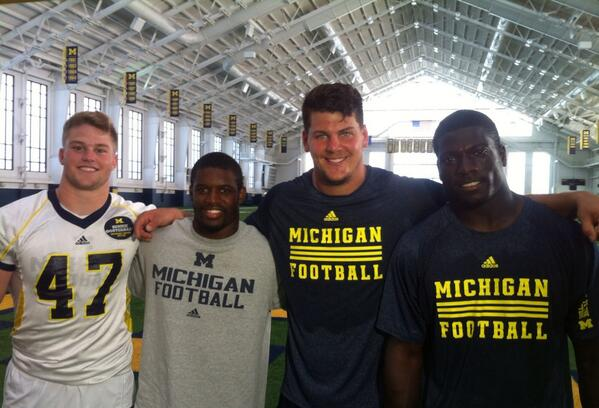 Team 134 Captains  Michigan Wolverines Football News 2013 umcaptains Taylor Lewan Jake Ryan Courtney Avery Cam Gordon