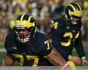 Taylor Lewan on Under the Lights 2 Michigan vs Notre Dame 2012 UMIowa 016 300x239 Taylor Lewan Notre Dame