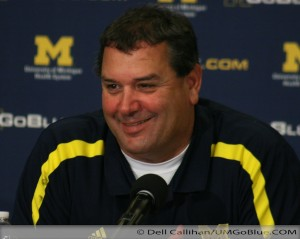 Brady Hoke on Under the Lights 2 Michigan vs Notre Dame 2012 UMIowa 040 300x239 Notre Dame Brady Hoke audio
