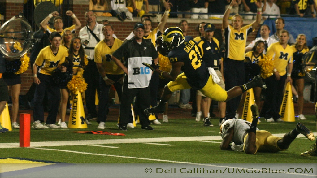 M Football 2013 WOLVERINES OVER IRISH AT HOME IN PRIME TIME:M 41, ND 30 2013 02 UMND 018 Notre Dame Jeremy Gallon Fitzgerald Toussaint Drew Dileo Devin Gardner Brady Hoke