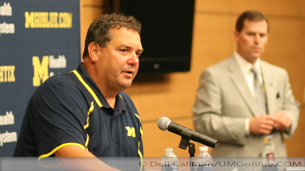 Brady Hoke on Under the Lights 2 Post Game Michigan 31 vs Notre Dame 20 2013 02 UMND 032
