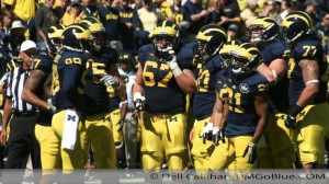 After Further Review  Michigan Football Offensive Line Troubles  2013 03 umakron 014 300x168 Taylor Lewan Offensive Line Al Borges 2013