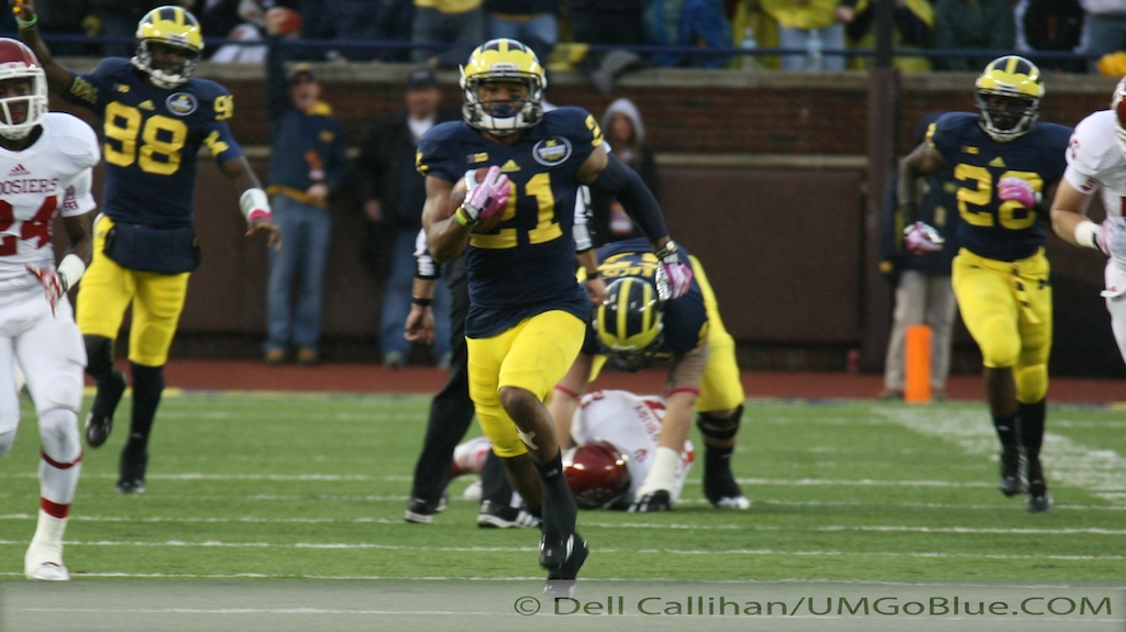 M FOOTBALL 2013: GALLON WATERS DOWN HOOSIER HOPES AS HE SETS RECORDS, AND THE WOLVERINES PREVAIL IN A 63 TO 47 SHOOTOUT 2013 UMIndiana 07 Jeremy Gallon Indiana Fitzgerald Toussaint Devin Gardner 2013