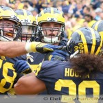 MICHIGAN FOOTBALL 2015-THE WOLVERINES PUNCH UNIVERSITY OF NEVADA LAS VEGAS 28 TO 7 FOR SECOND WIN OF THE SEASON.