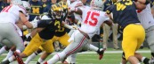 """M FOOTBALL 2015-112TH INCARNATION OF """"THE GAME"""" PROVIDES DOWNER FOR THE WOLVERINES AS BUCKEYES OVERWHELM 13-42."""