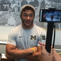 Michigan Running Back Drake Johnson– The young guys are getting a crash course in Harbaugh-ism