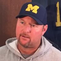 2016 Michigan Offensive Coordinator Tim Drevno Post Practice 8-22-16