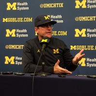 Michigan 59 Maryland 3 Jim Harbaugh Post Game Press Conference