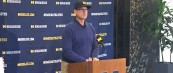 "Michigan Football– Jim Harbaugh MSU Week Press Conference– ""I didn't bring that list with me today…"""