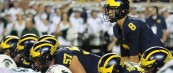 MICHIGAN FOOTBALL 2017: SPARTANS SHOCK WOLVERINES IN TOUGH HOME LOSS, 10 TO 14.