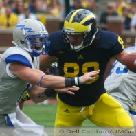 M FOOTBALL 2012-AIR FORCE FALCONS FLUTTER DOWN IN WOLVERINES' HOME OPENER