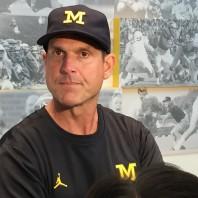 Michigan Football Coach Jim Harbaugh Hawaii Post Game Press Conference