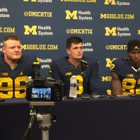 Michigan Football– Michigan 14 Wisconsin 7 Speight, Darboh, Glasgow Post Game Press Conference