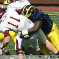 M Football 2011-Wolverines Shine-Gophers Pine- Michigan 58-Minnesota 0