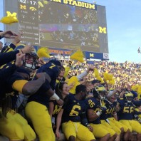 M FOOTBALL 2012: SEASON'S LAST HOME GAME PROVIDES THE FINAL OPPORTUNITY FOR 23 SENIORS TO ENJOY MICHIGAN STADIUM AND ITS ATMOSPHERE, WHILE OBTAINING A NEEDED WIN-WOLVERINES 42, HAWKEYES 17.