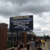 Display at Michigan Stadium