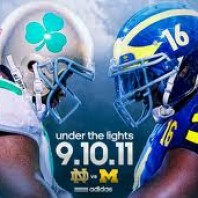 Pictures from the first Under the Lights Michigan 35 Notre Dame 31